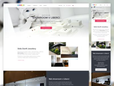 Showroom Liberec site jewellery website shop responsive onepage microsite landing page branding