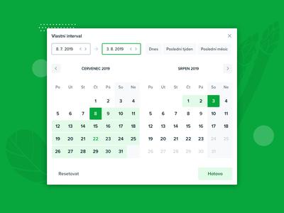 Datepicker with day range slider responsive dropdown calendar forms range slider date picker date datepicker
