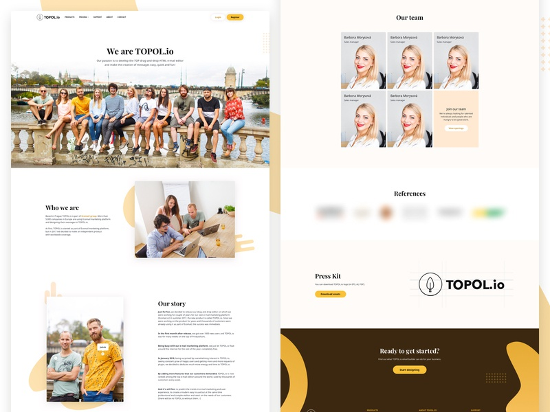 TOPOL io - About us assets people microsite about us email campaign responsive clean drag and drop email email template web sass email marketing