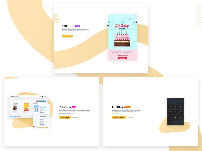 TOPOL io - Products plugin wysiwyg email marketing sass responsive website email template email drag and drop clean responsive email campaign microsite products