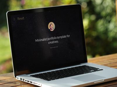 Reset - Minimalistic Portfolio Template