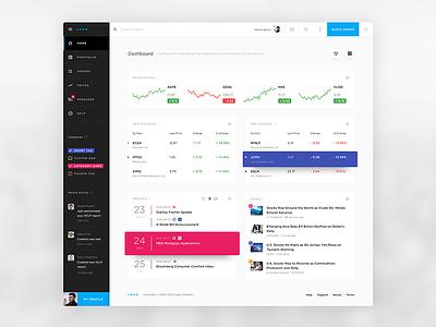 Finance App Dashboard stats data graph chart dashboard platform trading stock ui light online finance