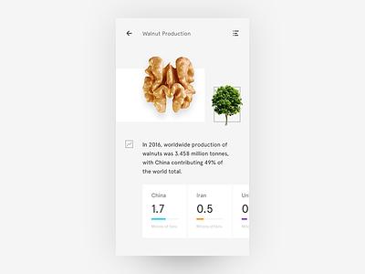 Walnut what if simple clean stats ui white minimalist user interface tree nuts walnut ui freestyle