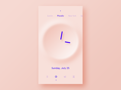 Clock purple concept pink ui freestyle what if alarm clock minimalist clear simple app