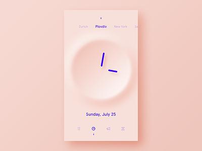 Clock purple concept pink ui freestyle what if alarm clock minimalist clear simple app