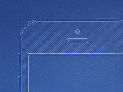 iPhone5 Blueprint Wireframe
