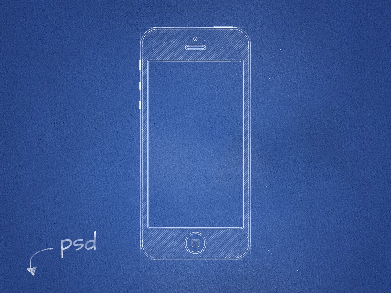 Free psd blueprint mockup by antoni botev dribbble malvernweather Choice Image