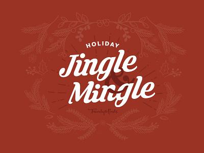 Jingle & Mingle script seasonal design invitation invite holiday