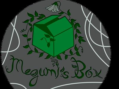 Megumi's Box Logo typography branding logo design illustration