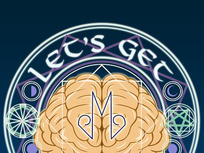 Let's Get Mystical graphic design brain logo design adobe photoshop illustration rune art drawing mystical mystic