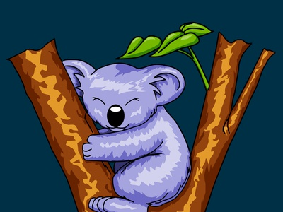 Koala Art animal art drawing cute art adobe photoshop illustration design koala bear koala