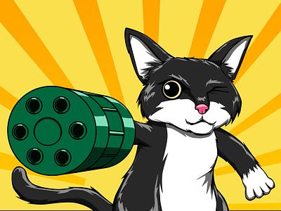 Kuro Chan anime art anime fan art fanart animal cute art art drawing adobe photoshop illustration design