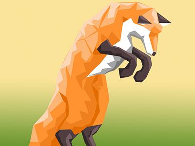Polygon Fox polygon fox illustration fox animal art drawing adobe photoshop illustration design