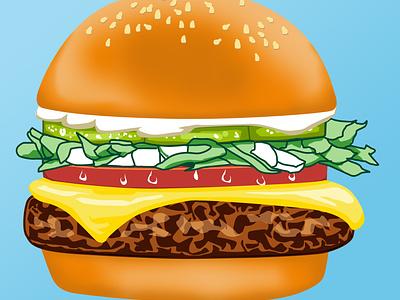Burger Design hamburger burger food art drawing adobe photoshop illustration design