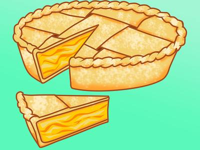 Apple Pie Design digital art food and drink foodie food illustration cute art drawing art illustration adobe photoshop design apple pie food
