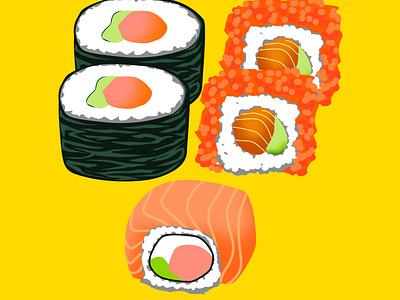 Sushi Design foodillustration foodie food art drawing adobe photoshop illustration design japanese food japanese sushi