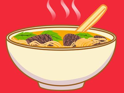 Pho Design noodles art drawing adobe photoshop illustration design food soup