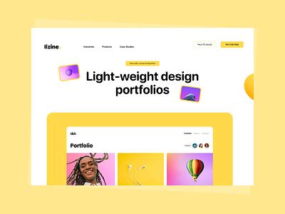 Lizine - Hero Section Concept product landing page design grid hero typography illustration minimal graphic design website