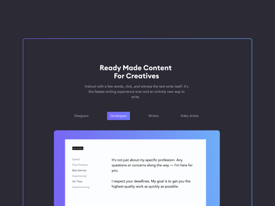 Web Tool Feature Section product typography design website graphic design