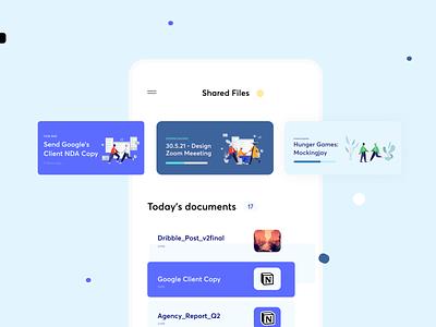 Mobile App Concept: File Sharing mobile design minimal concept mobile app design mobile app mobile ui mobile