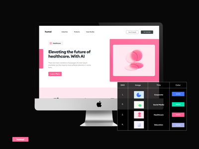 AI Landing Page - CMS pages website landing page design dailyui database webflow cms