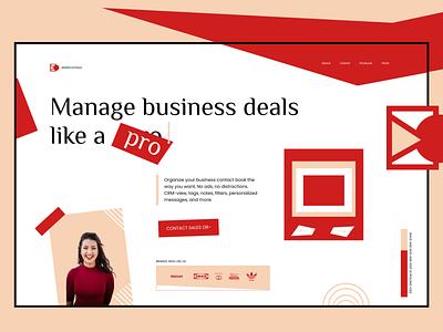 Retro Monochrome Business Strategy Agency branding typography color monochrome business retro graphic design website