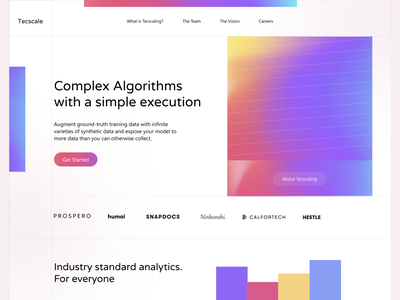 Data Analyst Agency - Hero Section Concept concept exploration website ui product hero section web design minimal fresh gradient