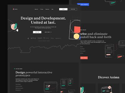 AnimaApp Website Redesign redesign concept product ayush anima app dark mode website