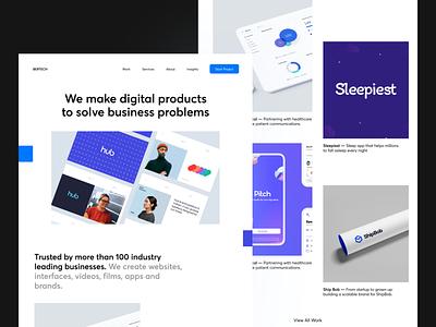 Design Studio Portfolio Concept startup startups studio company agency digital design concept portfolio website ayush