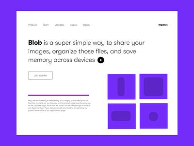 Blob App landing Page ayush web design madeinwebflow webflow landing page
