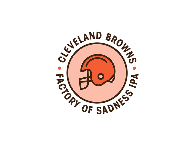 Cleveland Browns Factory of Sadness IPA bottlecap ipa browns cleveland icon