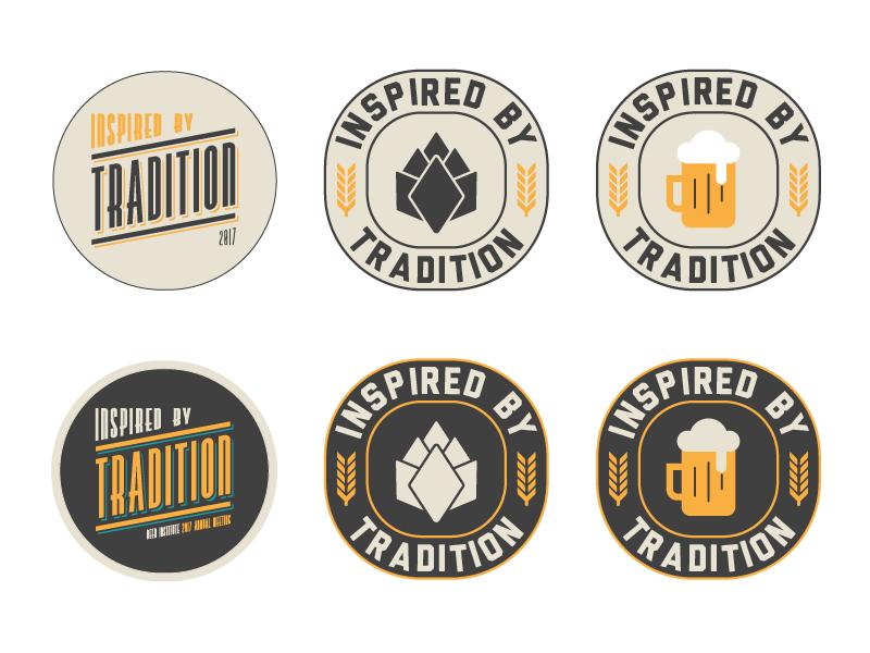 Inspired by Tradition Logo logo design beer logo