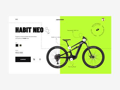 Habit Neo 4 - Hero Banner bike banner hero cannondale branding ui uidesign design