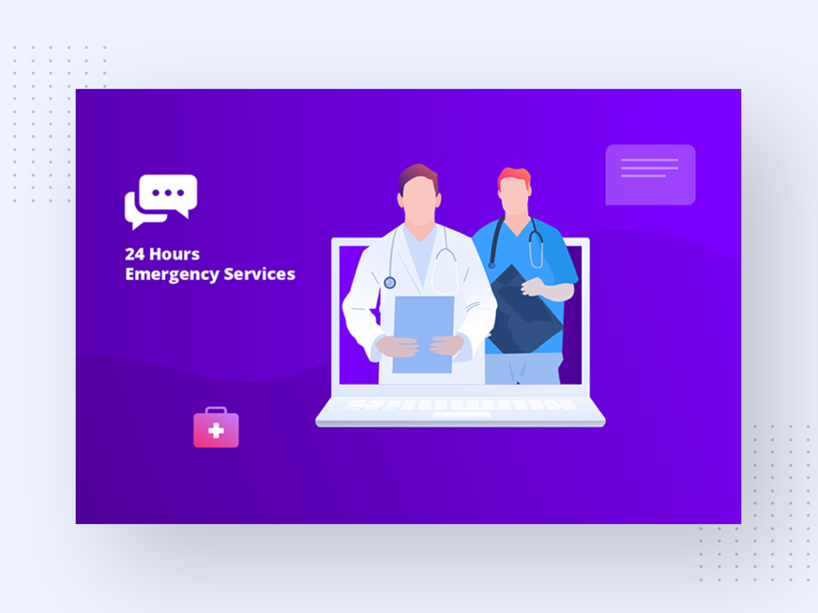 Emergency Medical Service Illustration Free Vector By Takeui On Dribbble