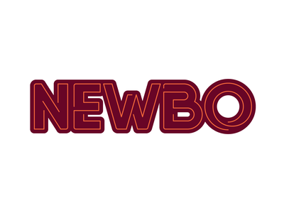 Weekly Warm-Up 1: Hometown Sticker newbo wordmark vector illustrator sticker dribbbleweeklywarmup