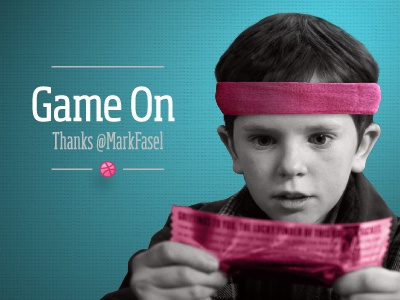 Game On debut thank you photo retouching