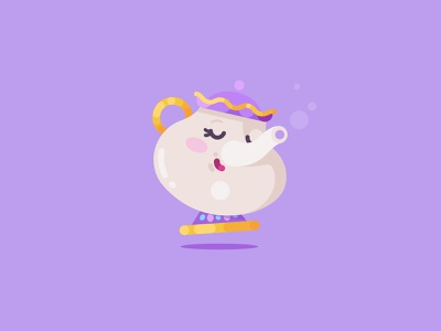 Mrs. Potts disney illustrator art graphic design design digital painting daily character design vector art digital art illustration mrs. potts beauty and the beast
