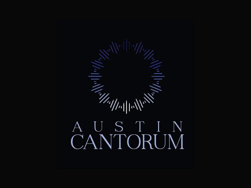 Austin Cantorum sing voice music branding texas choir austin logo