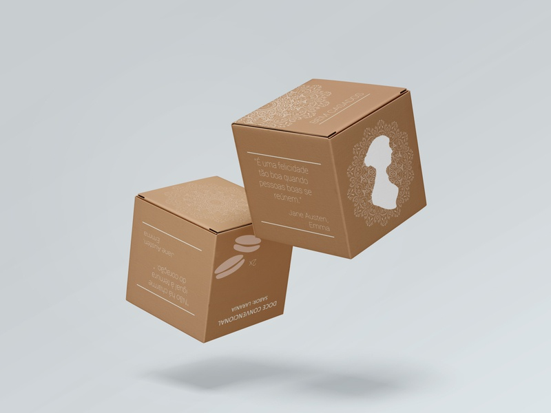 Box for little cakes box packaging package design content box mockup box art box packagedesign packaging design box design