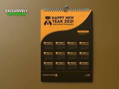 I do wall calendar design and desk calendar design new year calendar md amran mdamran amran5r minimal design branding graphic design happy new year 2021 happy new year calendar 2021 calendar design calendar
