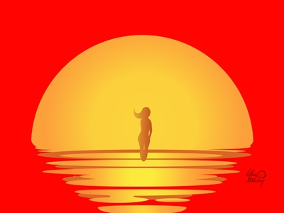 Into the sun color contentcreation vector character illustration digital illustration