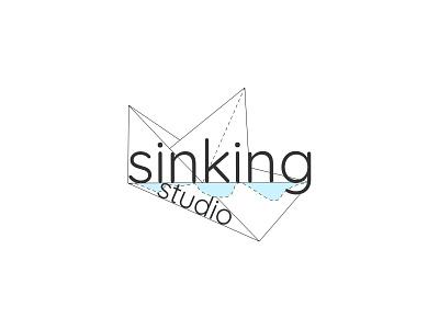 Logo Design: SinkingStudio ux ui rwd origami blue freelancer minimalist logotype productdesign logodesign marine typography illustration web vector graphic design design ship branding logo