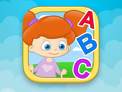 English for Infants - App Icon ios kids app icon design illustration ui