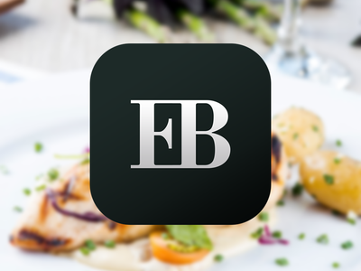 iOS app icon for Eat Bits iphone logo app branding ios icon app icon