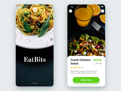 Eat Bits iOS app adobexd ux iphone branding logo ios design ui