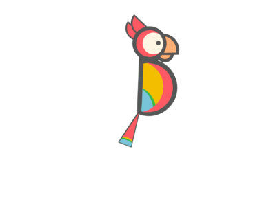 Parrot good vibes happy cute logo tropical logo parrot art parrot logo parrot design tropical bird bird design logo cute adorable vibrant tropical