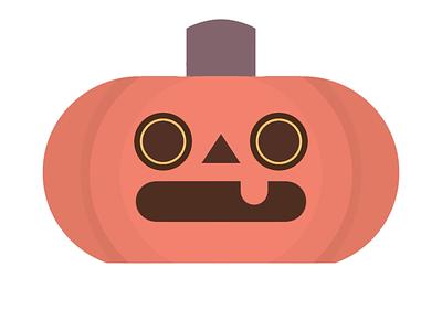 Jack O' Lantern halloween seasonal silly redbubble minimalist simple logo cute orange autumn october fall pumpkin comment