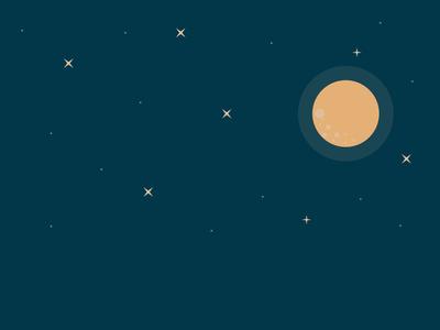 Nighttime time night moon stars