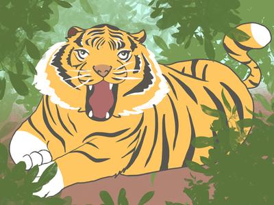 Cute tiny tiger tiger