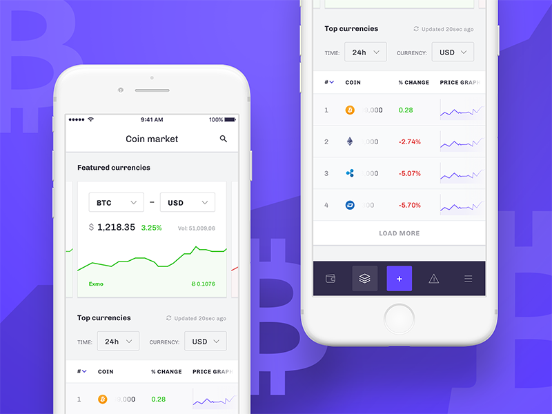 Cryptocurrency Tracker – iOS app